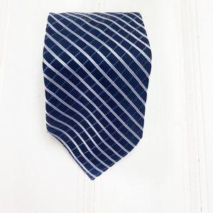 VTG Tommy Hilfiger 100% Silk Neck Tie Blue Striped